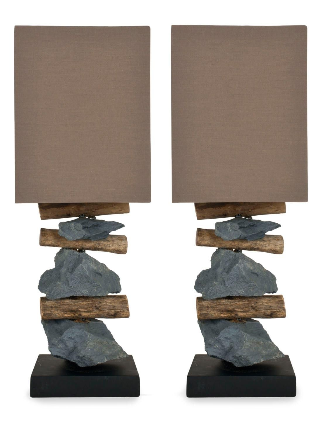 Stone table lamps set of 2 gilt home living room buffet safavieh highlander natural stone table lamps set of geotapseo Choice Image