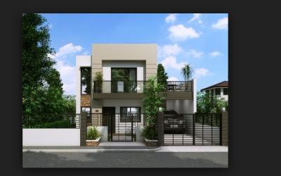 casas dos plantas modernas con rejas planos de casas Pinterest