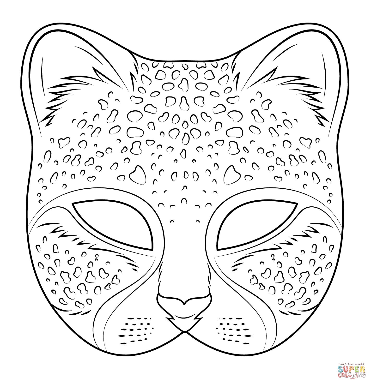 Cheetah Mask Coloring Page Ausmalbilder Tiere Lowen Malvorlagen Ausmalbilder