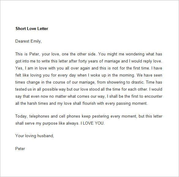 10 Romantic Letter Samples Free Printable Word Pdf Formats