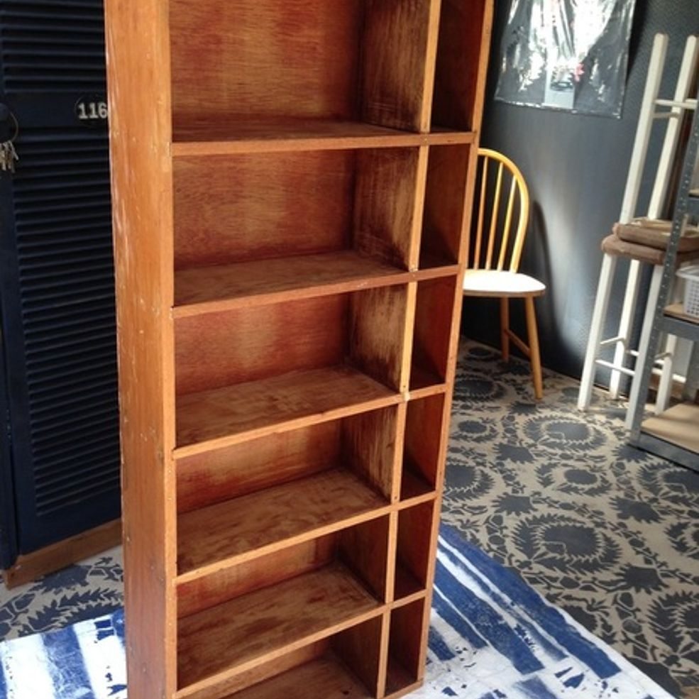 Transforming an Ordinary Wood Bookcase With Milk Paint