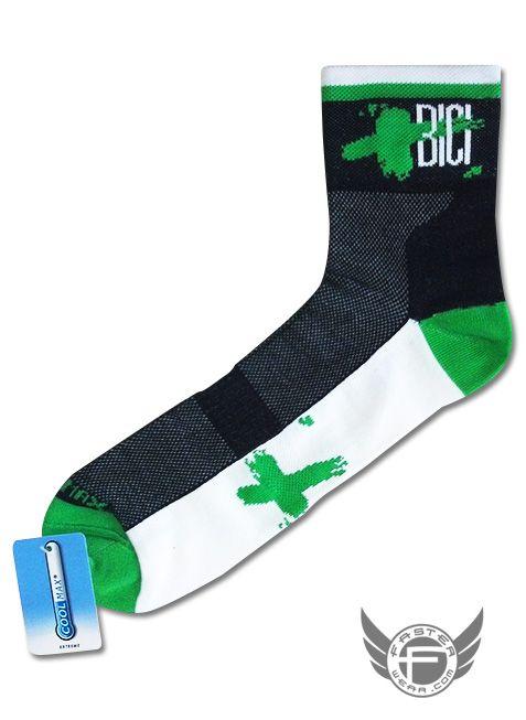 +BICI presenta sus nuevos calcetines técnicos Coolmax fabricados por FasterWear.com / Ultima tecnología en calcetines sin costuras, máxima sujeción del pie, evacuar el sudor y ayuda al perfecto riego sanguíneo para rendir al máximo.