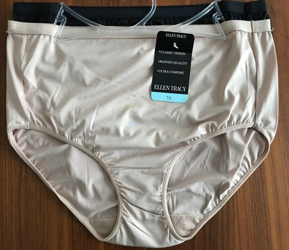 3aaea5b1514a ELLEN TRACY WOMENS FULL CUT BRIEF PANTIES Size 7 Large 2 PAIR 51409 NWT  #EllenTracy #Briefs #Everyday