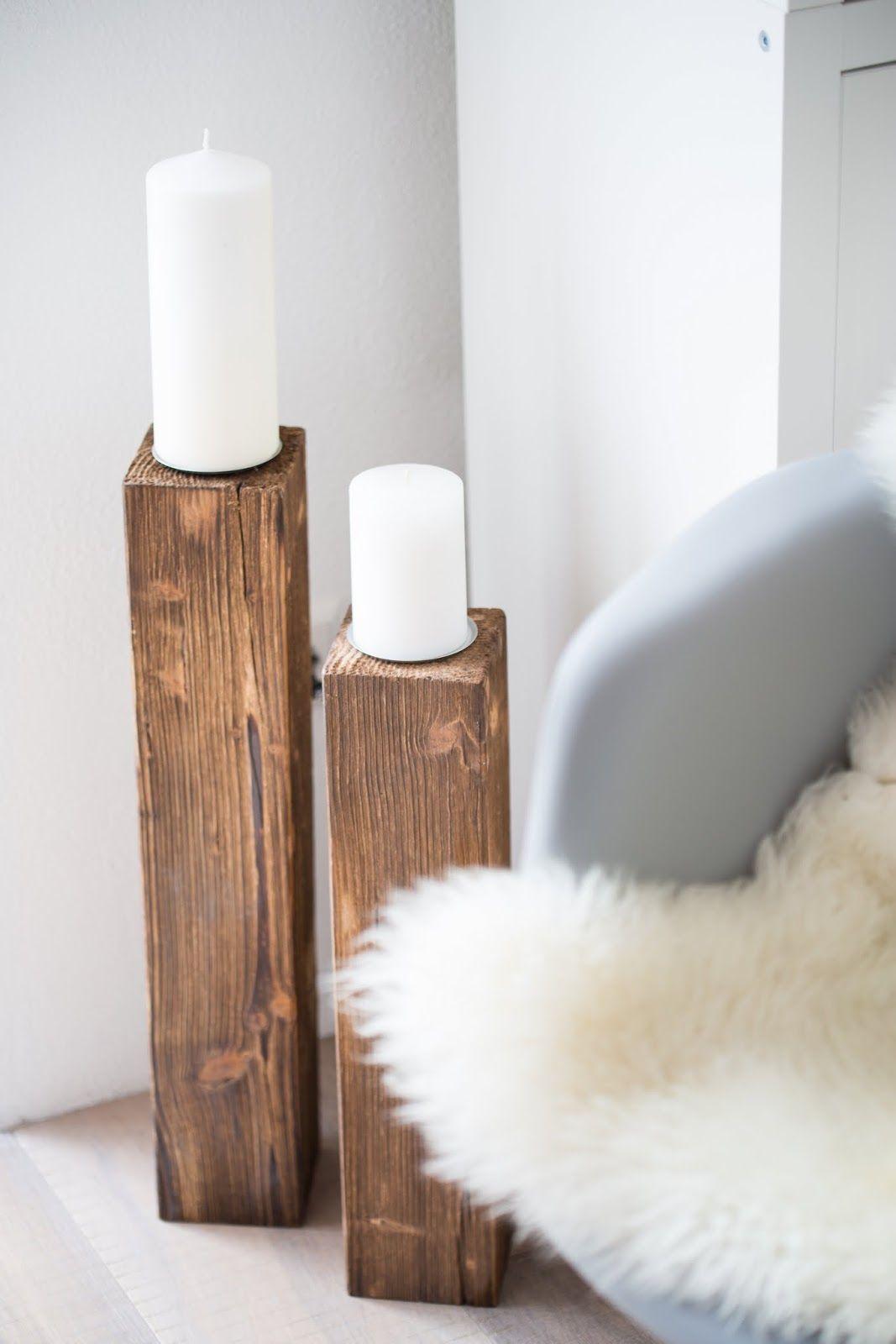 kerzenständer XXl aus Holz, selbstgemacht
