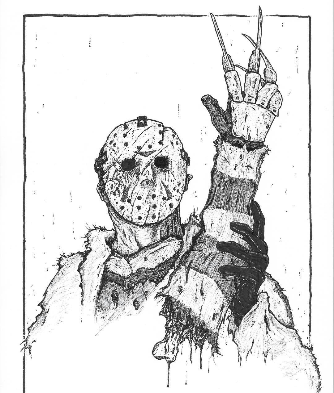 Pin by The Slasher on Freddy vs Jason Horror art