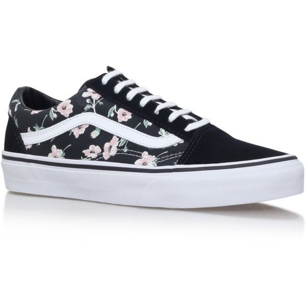 Old Skool Floral Vans BlackOther (€81) ❤ liked on Polyvore