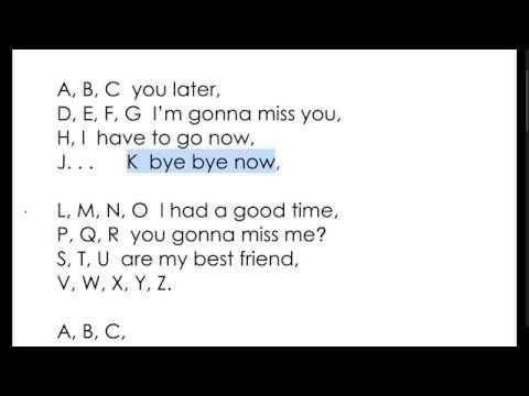Ava\'s Kindergarten Graduation...ABC Goodbye Song - YouTube | goodby ...