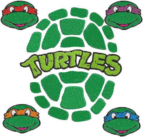 Ninja Turtles Machine Embroidery Design -- 0257 | phoenixembroidery - Needlecraft on ArtFire