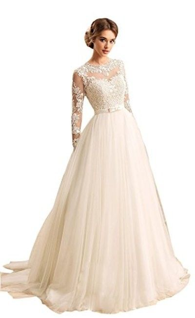 Women's Long Sleeves Jewel Bow Sash Open Back Lace-up Wedding Dress. Women's Long Sleeves Jewel Bow Sash Open Back Lace-up Wedding Dress on Tradesy Weddings (formerly Recycled Bride), the world's largest wedding marketplace. Price $102.18...Could You Get it For Less? Click Now to Find Out!