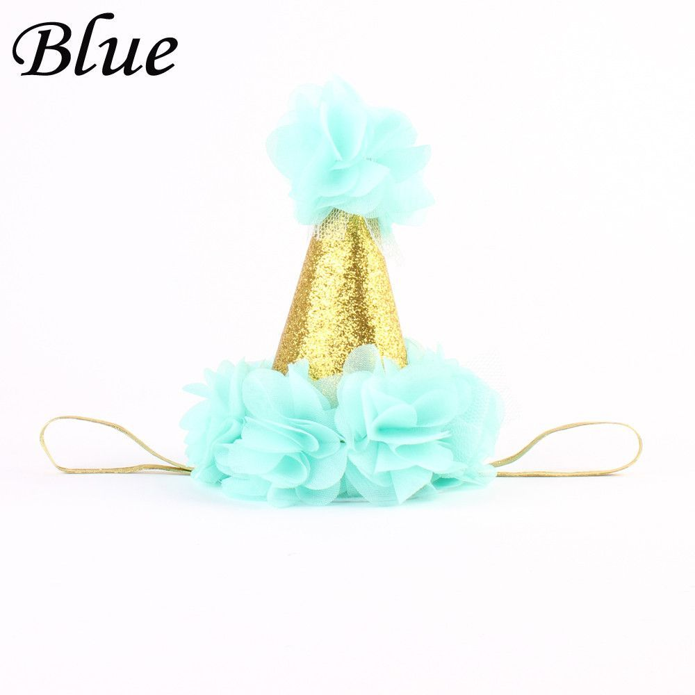 1PC Baby Infant Birthday Headwear Headband Party Hair band Gold Crown Hat XMAS Gifts Festival Headwear Baby Gifts