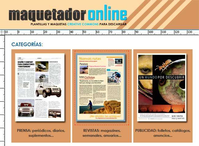 Maquetador Online: Plantillas y Maquetas Gratuitas para Descargar ...