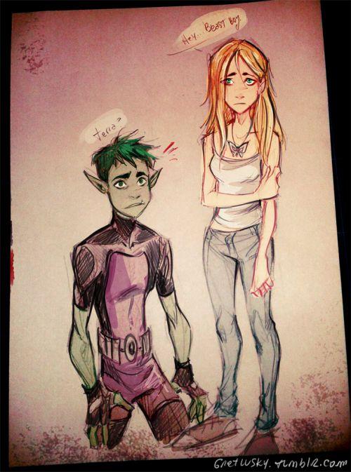 Terra And Beastboy  Teen Titans  Pinterest  Teen Titans -7577