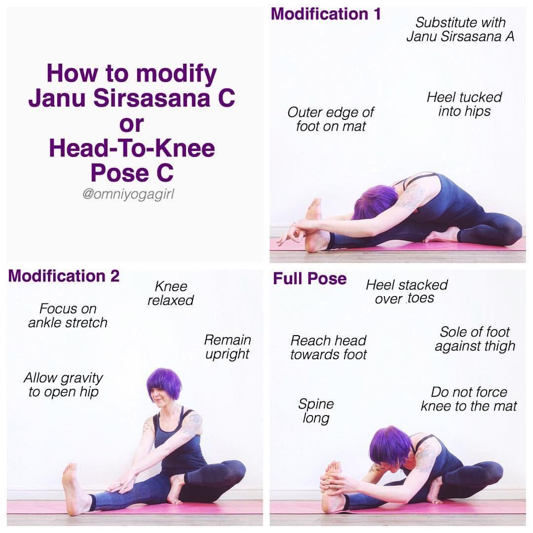 Ashtangamondays How To Effectively Modify Janu Sirsasana C Or Head To Knee Pose C Omniyogagirltips Janu Sir Yoga Movement How To Do Yoga Yoga Lessons