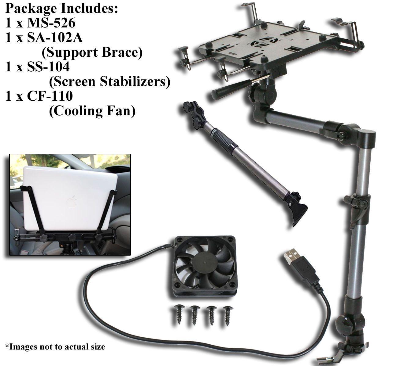 MS-526B *Bundle Sale*Mobotron Heavy-Duty Vehicle Laptop Mount,
