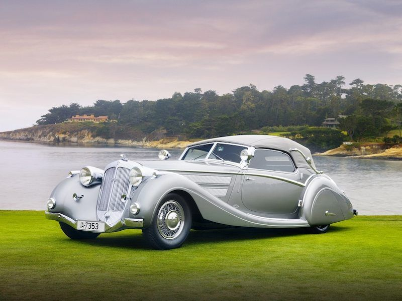 1937 Horch 853 Voll & Ruhrbeck Sport Cabriolet Front Left Picture