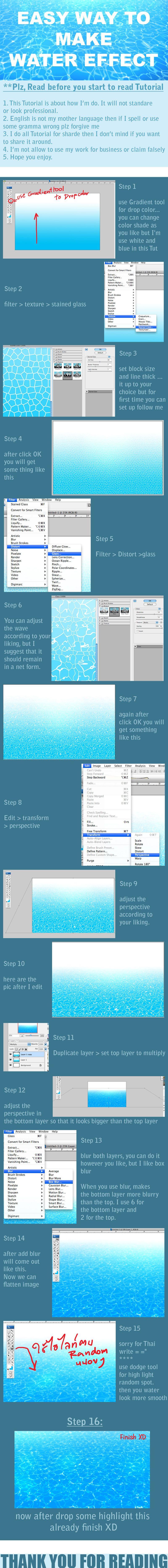 Easy way to make water -3- by =pandabaka on deviantART