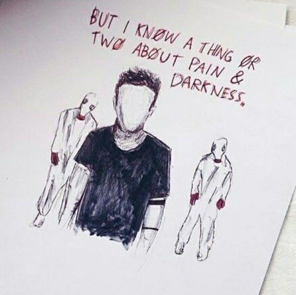 Kitchen Sink Lyrics Drawing lyrics from 'lovely'twenty one pilots.@maya876876   my art