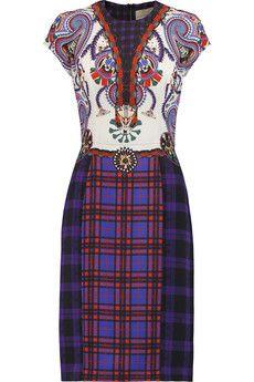 Mary Katrantzou Printed stretch-silk dress | THE OUTNET