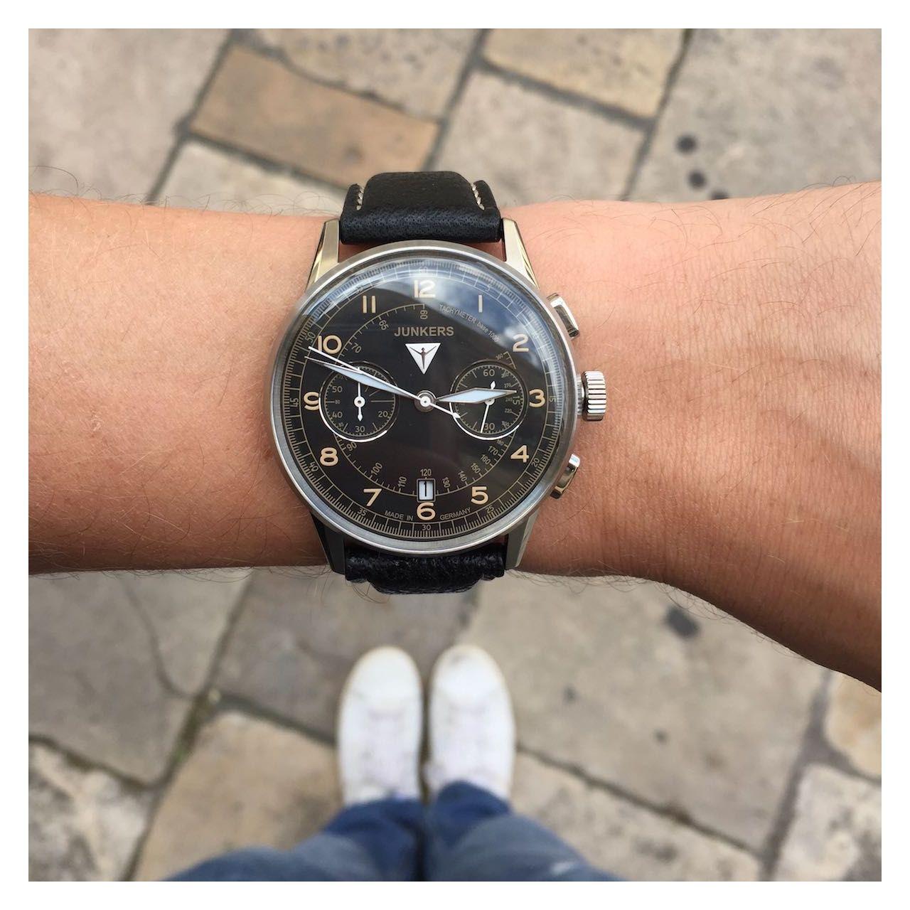 e58e035c792 G. 38 Edition 2 Chrono Acier/Noir - Junkers   Watches   Watches ...