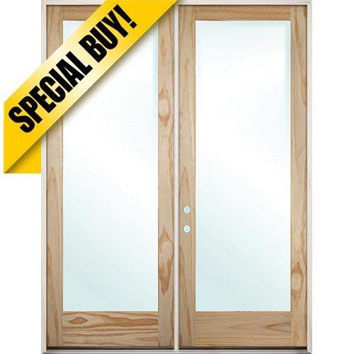 9511 Exterior 8 0 1 Lite Low E Pine Wood Door Patio Unit Exterior Double French Doors Cheap French Doors Cheap Interior Doors