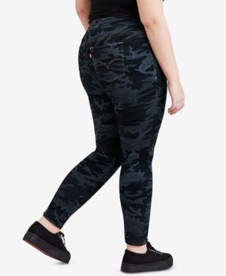 629dd3fb67fa9 Levi's Plus Size Camo-Print Pull-On Skinny Jeans   Products   Camo ...