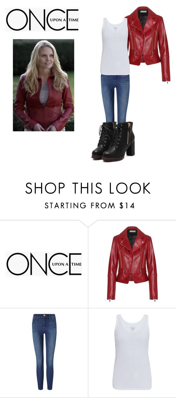 """Emma"" by mbrownie1231 ❤ liked on Polyvore featuring Once Upon a Time, Balenciaga, Frame Denim and Majestic"