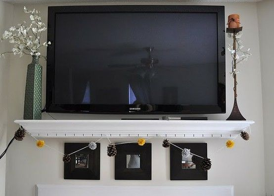 shelf under wall mounted tv home ideas pinterest mounted tv tvs and wall mount. Black Bedroom Furniture Sets. Home Design Ideas