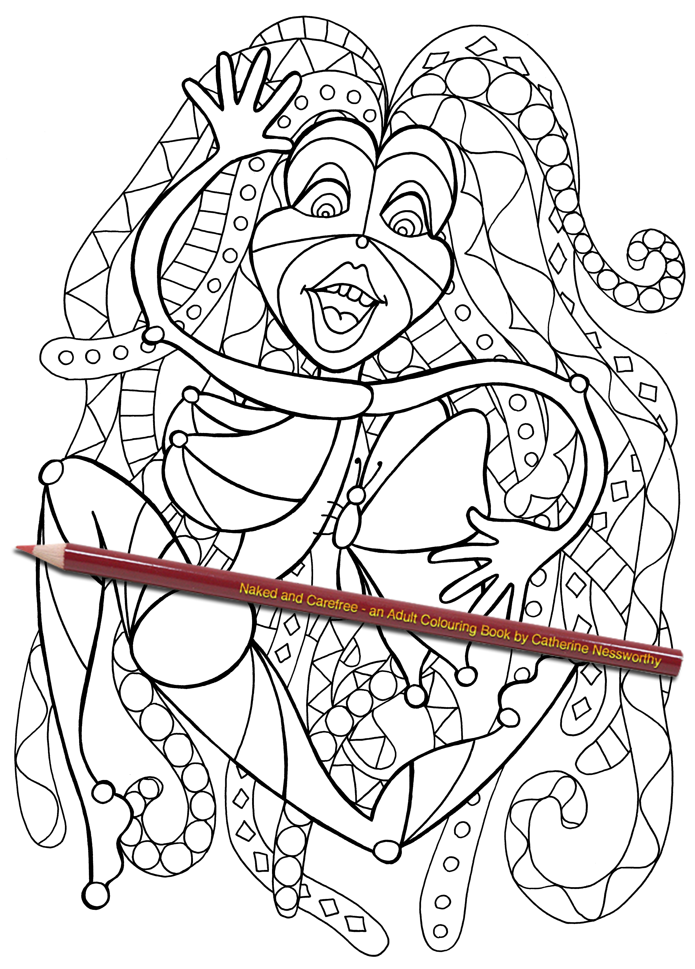 adult coloring book Naked