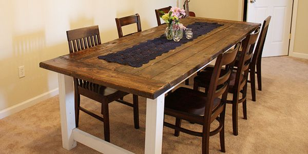 Beautiful Farmhouse Dining Table  Farmhouse Table House And Farm Enchanting Dining Room Tables Plans Review