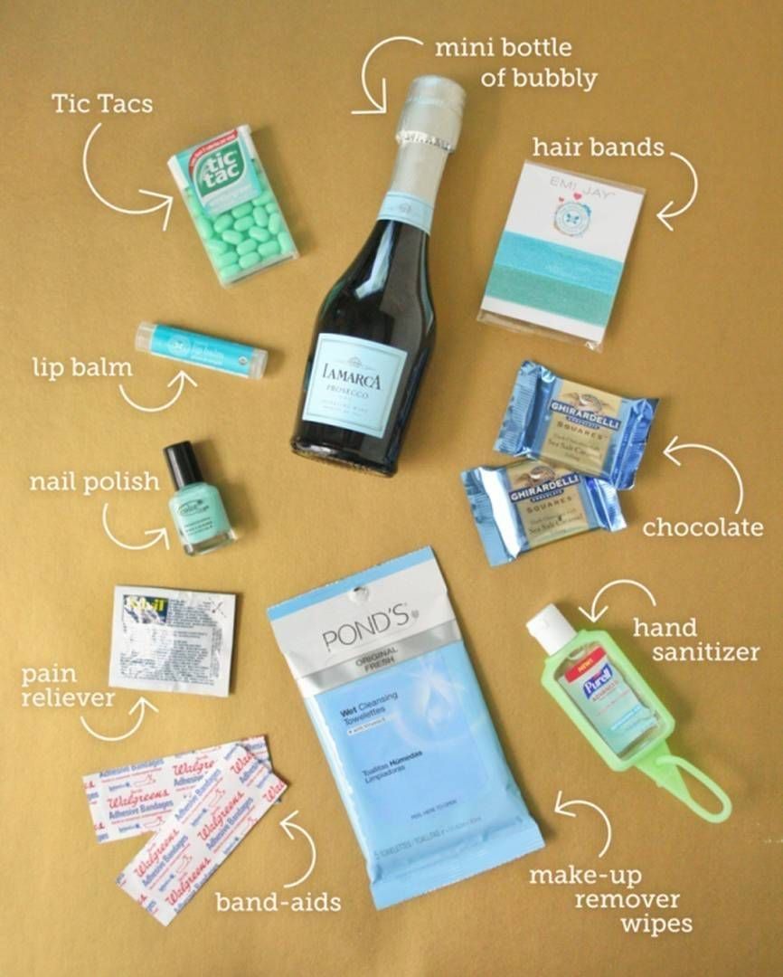 Cute And Simple Bachelorette Party Favors Survival Kit Image Source