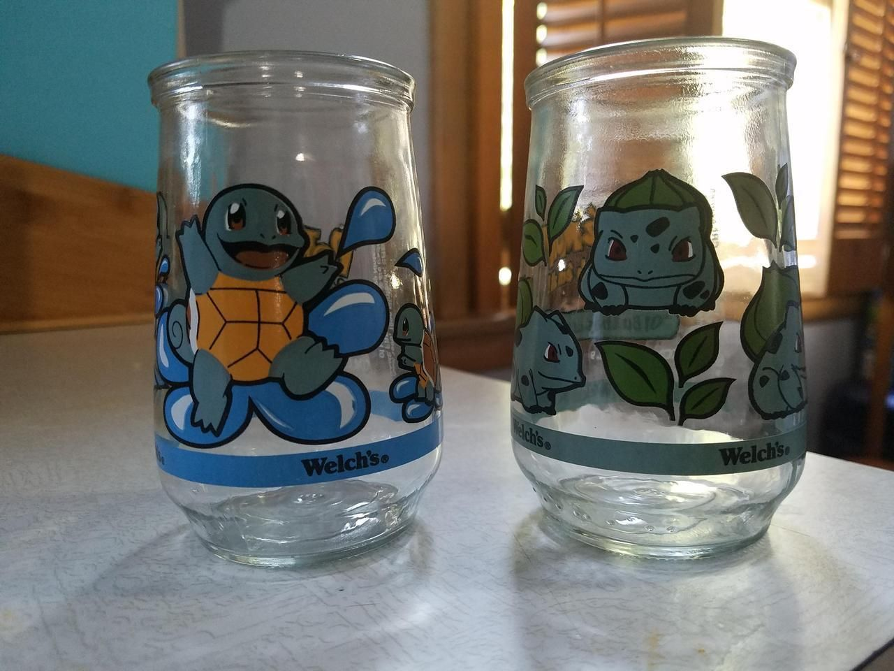 Pokemon Welshs Jelly Glasses from 1998 -
