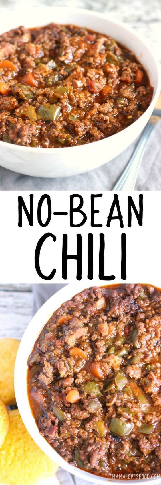 No Bean Chili Ground Beef Might Sub Chicken Turkey Mild Ground Pork Sausage Sub Chicken Turkey Vegetarian Sausage With Images Recipes Chilli Recipes No Bean Chili
