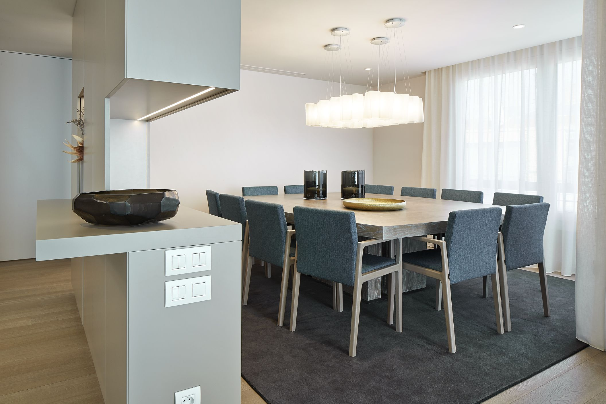 Molins interiors arquitectura interior comedor mesa - Lampara mesa comedor ...