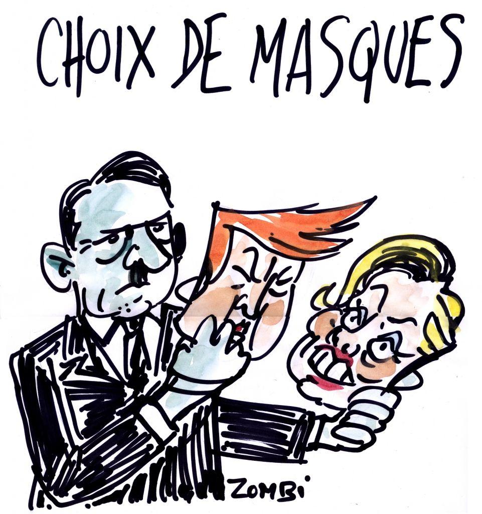 Top Zombi (2016-02-02) Trump-Hitler, masque || webzine,bd,zébra  ZD32