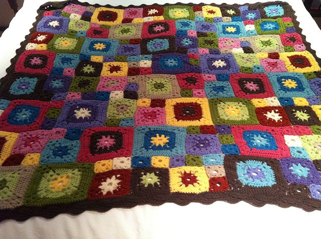 Ravelry: Garden Patch Granny Afghan, free pattern by Lion Brand Yarn ...