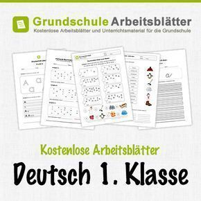 kostenlose arbeitsbl tter und unterrichtsmaterial f r den deutsch in der 1 klasse in der. Black Bedroom Furniture Sets. Home Design Ideas