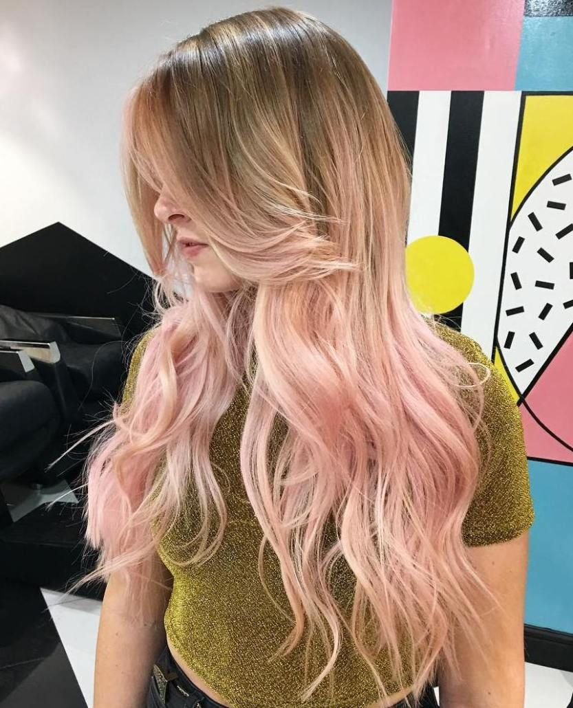 40 Ideas Of Pink Highlights For Major Inspiration Pink Blonde Hair Pink Ombre Hair Ombre Hair Blonde