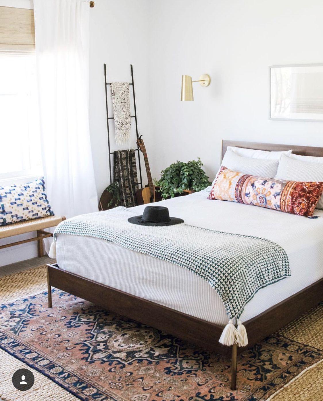 mid century modern farmhouse bedroom