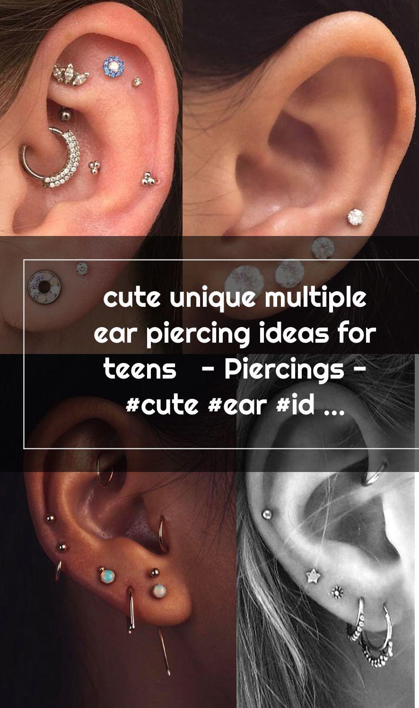 cute unique multiple ear piercing ideas for teens - Piercings