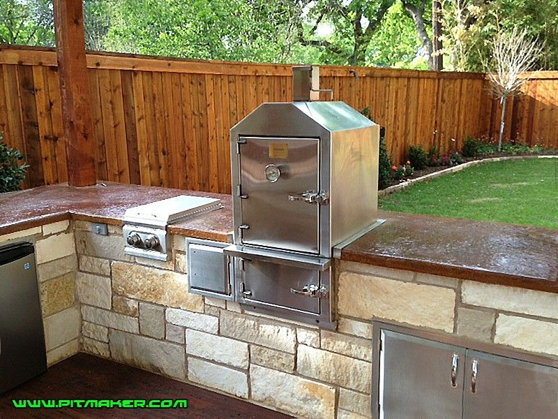 pin by pitmaker custom bbq pits on pitmaker outdoor kitchen outdoor kitchen bars outdoor bbq on outdoor kitchen with smoker id=30723