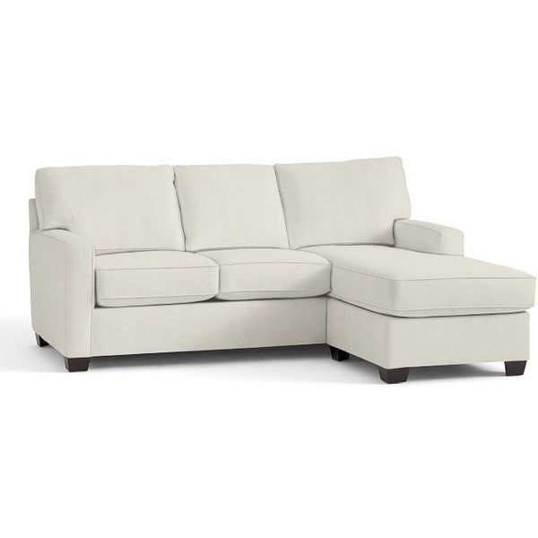 Pottery Barn Buchanan Square Arm Upholstered Sofa With Chaise... ($1,760) ❤