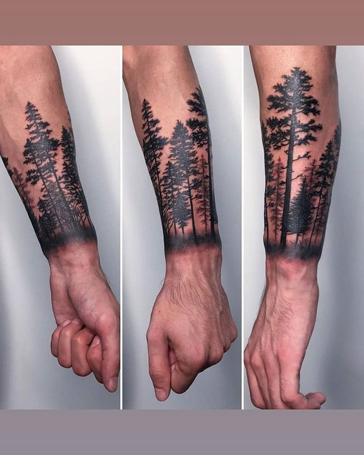 Tattooantebrazo Traditionaltattoo Forest Tattoos Wrist Tattoo Cover Up Forest Tattoo Sleeve