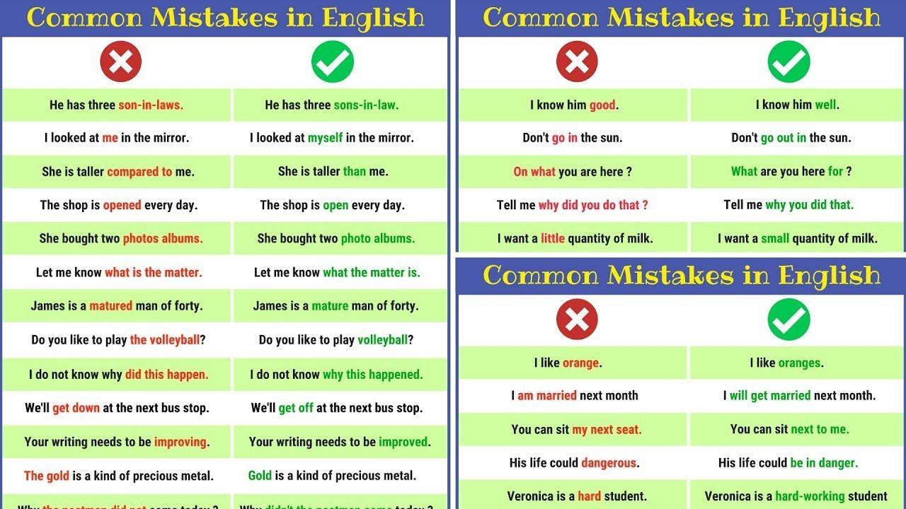 how to correct english sentences
