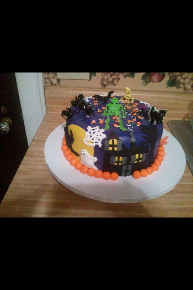 Halloween cake I did for my best friends birthdayshe love - halloween birthday cake ideas