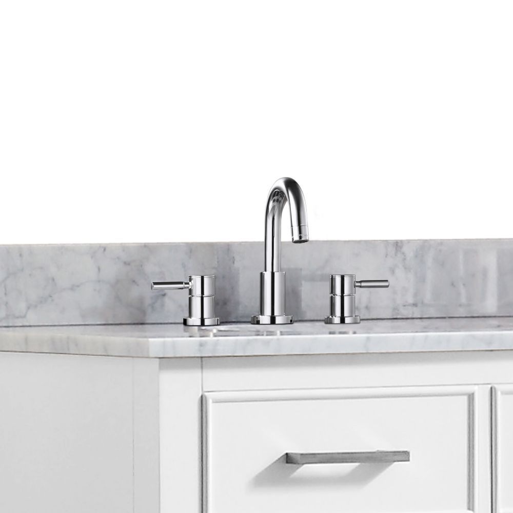 Positano 8-inch Widespread 2-Handle Bathroom Faucet in Chrome Finish ...