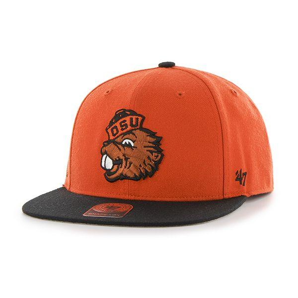size 40 1f2f8 505bb Oregon State Beavers Sure Shot Two Tone Captain Orange 47 Brand Adjustable  Hat
