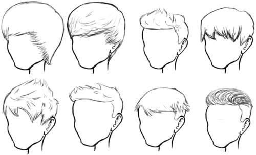 male hair sketches buzz