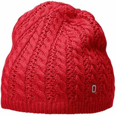 ... free shipping nike ohio state buckeyes ladies scarlet cable knit beanie  7788e 94ba4 57cdc442ac41