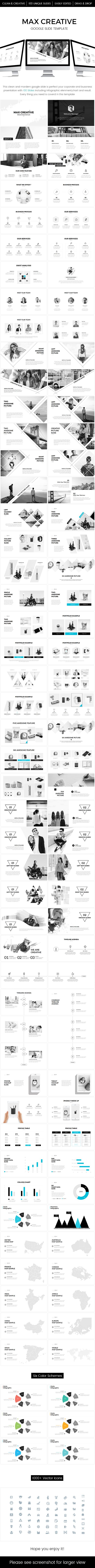 max creative google slide template
