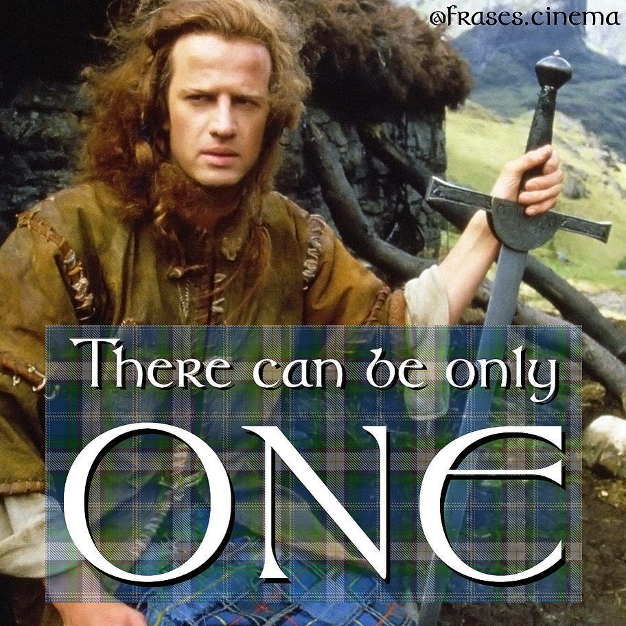 Frases De Cinema On Instagram There Can Be Only One Só Pode Haver Um Connor Macleod Christopher Highlander Movie Science Fiction Movies Movie Scenes